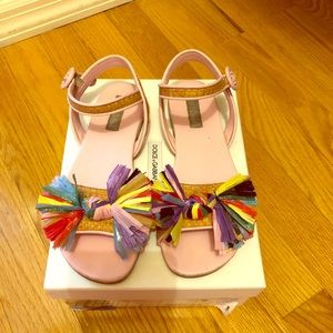 Dolce&Gabbana Sandal Girl's size 32 org box & tags